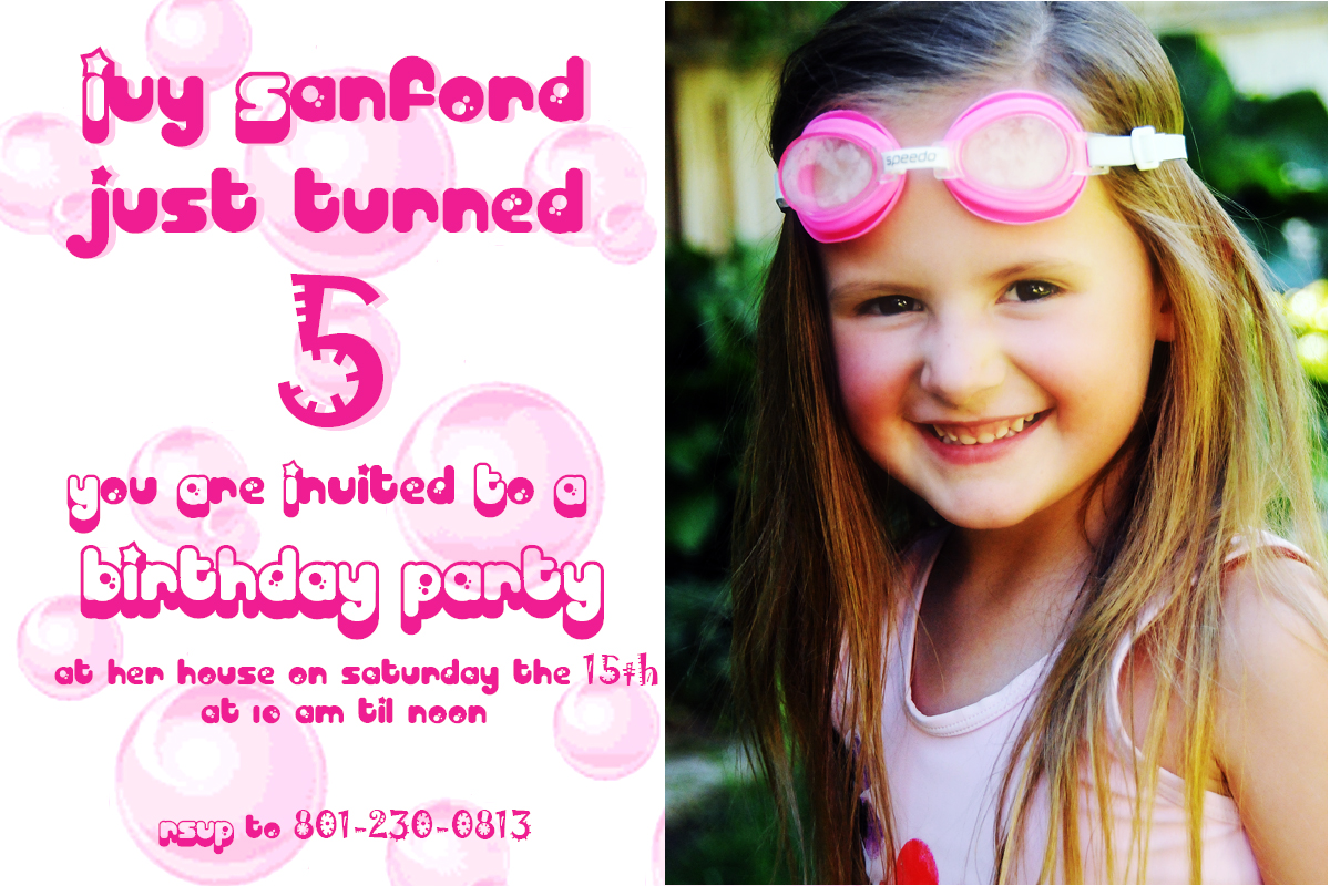 5 Year Old Birthday Party The Family Trifecta – Birthday Invitation for 3 Year Old