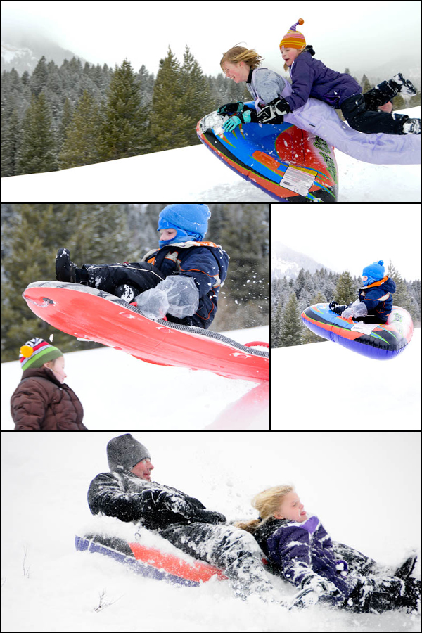 Sledding at Tibblefork